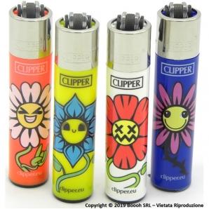 CLIPPER LARGE SPRING STONED FLOWER - SERIE COMPLETA DA 4 ACCENDINI GRANDI DA COLLEZIONE 3,19€