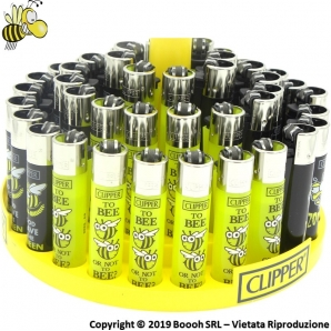 CLIPPER LARGE SPRING BEE BLACK & YELLOW - CONFEZIONE DA 48 ACCENDINI GRANDI 33,99 €