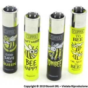 CLIPPER LARGE SPRING BEE BLACK & YELLOW - SERIE COMPLETA DA 4 ACCENDINI GRANDI DA COLLEZIONE 3,19€