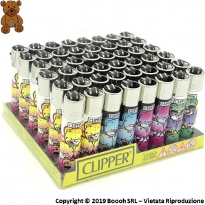 CLIPPER LARGE BAD BEARZ PART 1 - CONFEZIONE DA 48 ACCENDINI GRANDI 33,99 €