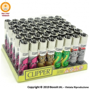 CLIPPER LARGE ANIMALS MAD D - CONFEZIONE DA 48 ACCENDINI GRANDI 33,99 €