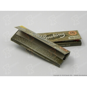 SMOKING CARTINE ORGANIC CORTE SINGOLE - 1 LIBRETTO DA 50 CARTINE 0,38€