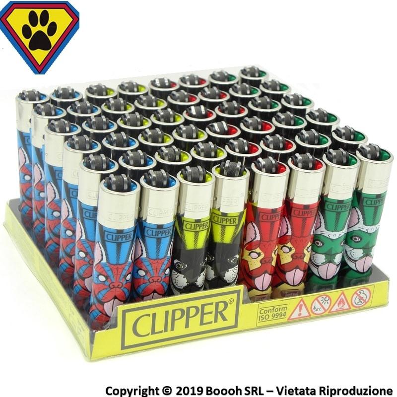CLIPPER LARGE SUPERDOGS M - CONFEZIONE DA 48 ACCENDINI GRANDI 33,99€