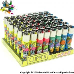 CLIPPER LARGE COOL SPRAY STREET ARTIST K - CONFEZIONE DA 48 ACCENDINI GRANDI 33,99€