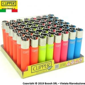 CLIPPER LARGE SOFT TOUCH FLUO - CONFEZIONE DA 48 ACCENDINI GRANDI 33,99€