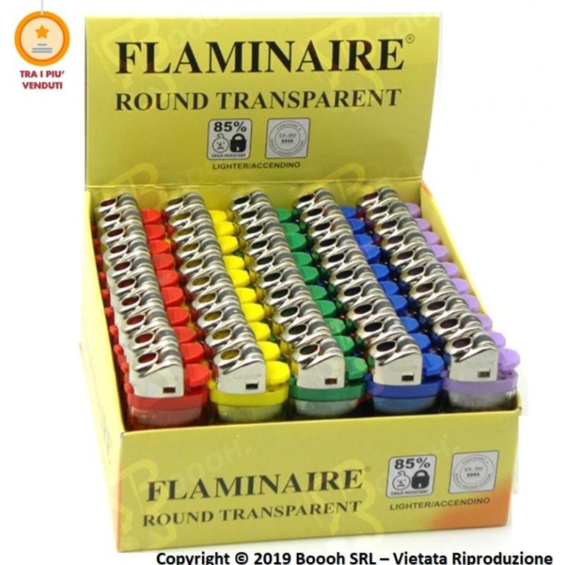 FLAMINAIRE ACCENDINO TRASPARENTE A PIETRINA - CONFEZIONE DA 50 ACCENDINI 7,88€