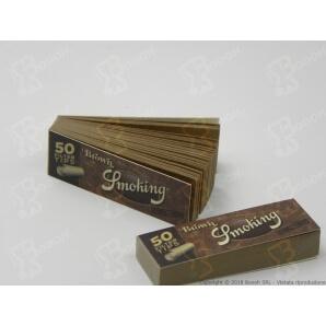 SMOKING FILTRI DI CARTA NON SBIANCATA BROWN - 1 BLOCCHETTO DA 50 FILTRI IN CARTONCINO 0,56€