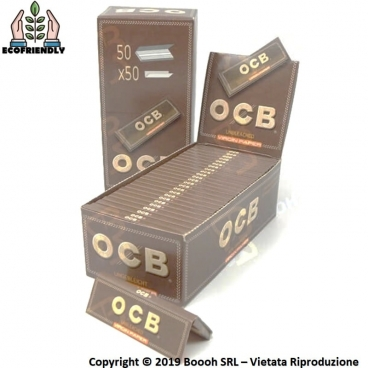 CARTINE OCB VIRGIN BROWN SENZA CLORO CORTE SINGOLE - BOX DA 50 LIBRETTI