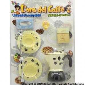 L'ORA DEL CAFFE' - MOKA CAPPUCCINO CON TAZZE | GIOCATTOLO IN BLISTER IDEA REGALO 7,92€