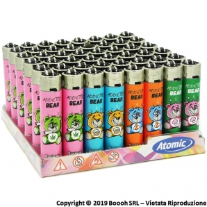 ATOMIC FESTIVAL ACCENDINO LARGE RICARICABILE FANTASIA ADDICTED BEAR - BOX DA 48 ACCENDINI 19,99 €
