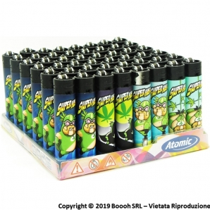 ATOMIC FESTIVAL ACCENDINO LARGE RICARICABILE FANTASIA SUPERHASH - BOX DA 48 ACCENDINI 19,99 €