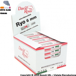 DAVID ROSS MICROBOCCHINI RYO 6mm - BOX DA 24 ASTUCCI 12,69 €