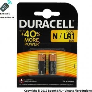 DURACELL BATTERIE SPECIALISTICHE ALCALINE MN9100 N / LR1 / E90 DA 1,5V - BLISTER DA 2 2,69€