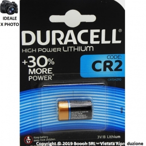 DURACELL BATTERIE CR2 HIGH POWER LITHIUM - BLISTER DA 1 BATTERIA SPECIALISTICA 3,89 €