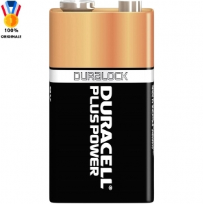 DURACELL BATTERIE 9V PLUS POWER TRANSITOR PILE ALCALINE - 1 BLISTER DA 1 PILA 2,29 €