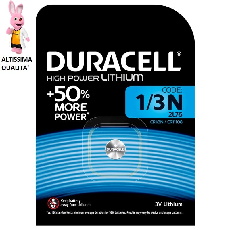 DURACELL 1/3N HIGH POWER LITHIUM 3V - BLISTER DA 1 BATTERIA 3,49 €