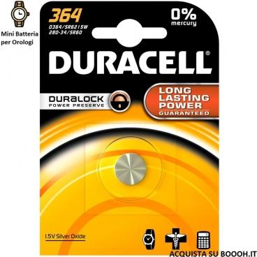 DURACELL 364 OSSIDO DI ARGENTO 1,5V - BLISTER DA 1 BATTERIA