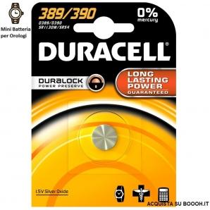 DURACELL 389/390 OSSIDO DI ARGENTO 1,5V - BLISTER DA 1 BATTERIA 1,88€
