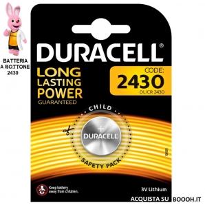 DURACELL DL 2430 LITHIUM 3V - BLISTER DA 1 BATTERIA 1,19€