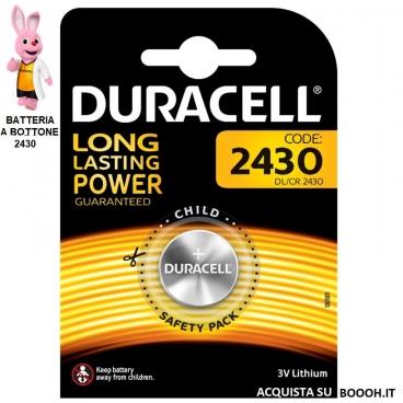 DURACELL DL 2430 LITHIUM 3V - BLISTER DA 1 BATTERIA