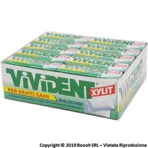 VIVIDENT XYLIT GREEN MINT CHEWING GUM - CONFEZIONE DA 40 STICK | GOMME DA MASTICARE 27,59€