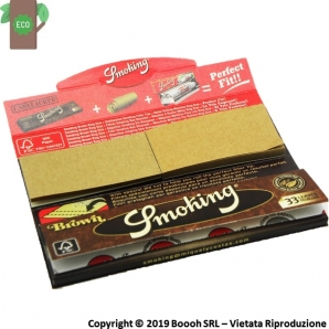 SMOKING BROWN CARTINE LUGHE UNBLEACHED + FILTRI DI CARTA ECO - SINGOLO LIBRETTO DA 33 CARTINE E 33 FILTRINI IN CARTONCINO 1,29 €