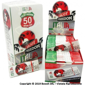 CARTINE ENJOY FREEDOM CORTE SINGOLE ITALIA - BOX DA 50 LIBRETTI 25,99 €