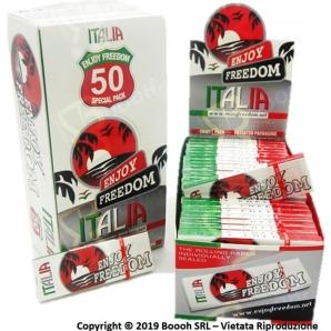 CARTINE ENJOY FREEDOM CORTE SINGOLE ITALIA - BOX DA 50 LIBRETTI 7,89€