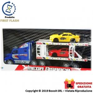 MEGA BISARCA GIGANTE CON RIMORCHIO + 4 AUTO DA CORSA INCLUSE 21,70€