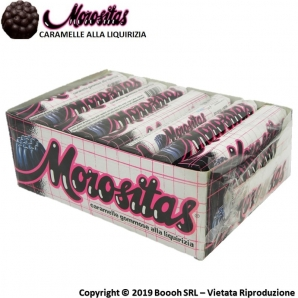 MOROSITAS CARAMELLE GOMMOSE ALLA LIQUIRIZIA - CONFEZIONE COMPLETA DA 24 STICK 0,99 €