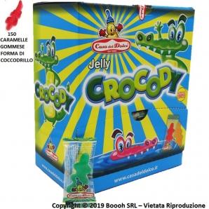 CARAMELLE GOMMOSE JELLY CROCODY SENZA GLUTINE - EXPO BOCCA DI LUPO DA 150 COCCODRILLI 14,19€
