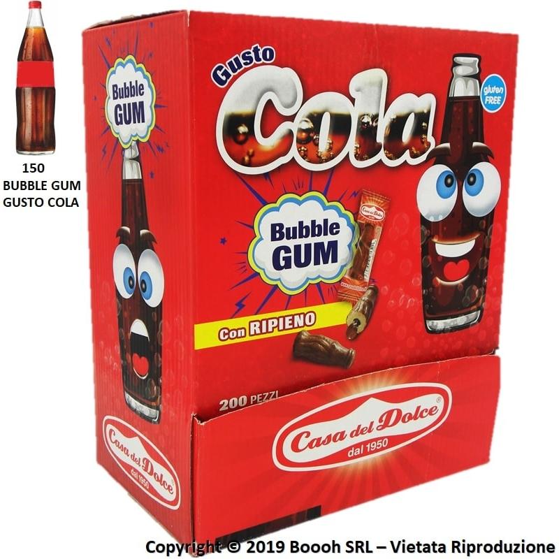 BUBBLE GUM GUSTO COLA GOMME DA MASTICARE SENZA GLUTINE - CONFEZIONE DA 200 CHEWING GUM MONODOSE 22,48€