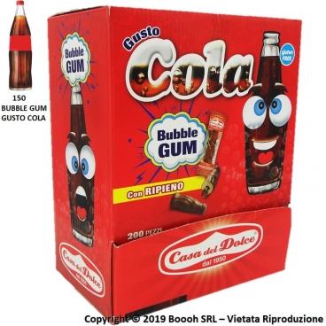 BUBBLE GUM GUSTO COLA GOMME DA MASTICARE SENZA GLUTINE - CONFEZIONE DA 200 CHEWING GUM MONODOSE