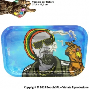 VASSOIO PER ROLLARE THANOS ENDGAME IDEA REGALO - PROFESSIONAL MEDIUM ROLLING TRAY by SMOKE ARSENAL 17,06 €