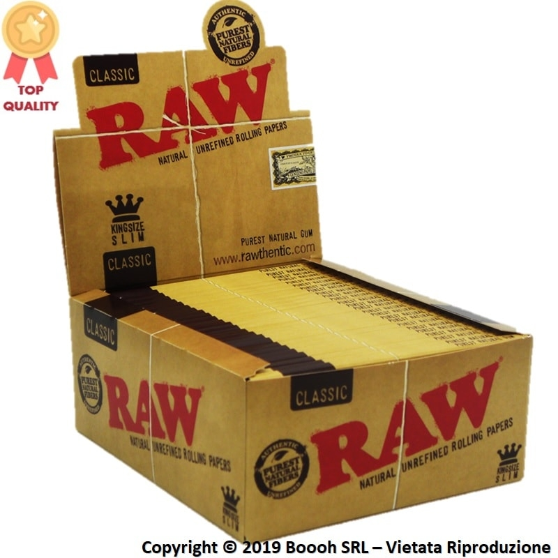 RAW CARTINE KING SIZE LUNGHE SLIM - CONFEZIONE DA 50 LIBRETTI DA 32 CARTINE 34,74 €
