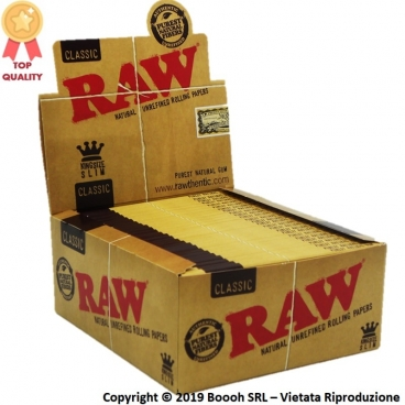 RAW CARTINE KING SIZE LUNGHE SLIM - CONFEZIONE DA 50 LIBRETTI DA 32 CARTINE