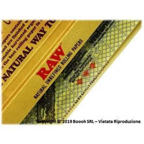 RAW CARTINE KING SIZE LUNGHE SLIM CLASSIC IN PURA CANAPA NATURALE 100% - 1 LIBRETTO DA 32 CARTINE 0,99€
