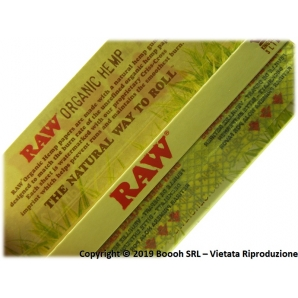RAW CARTINE HEMP KING SIZE LUNGHE SLIM IN CANAPA BIOLOGICA 100% - 1 LIBRETTO DA 32 CARTINE 0,89 €