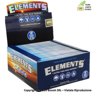 CARTINE ELEMENTS KS SLIM LUNGHE IN CARTA DI RISO - BOX DA 50 LIBRETTI 32,85 €