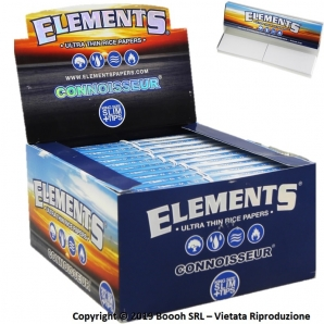 ELEMENTS CONNOISSEUR CARTINE LUNGHE KING SIZE SLIM IN CARTA DI RISO + FILTRI DI CARTA - CONFEZIONE DA 24 LIBRETTI 23,88 €