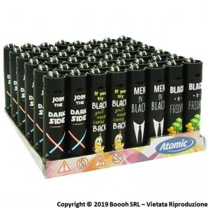ATOMIC FESTIVAL BLACK QUOTE ACCENDINI LARGE RICARICABILI - BOX DA 48 ACCENDINI CON FIAMMA REGOLABILE 19,99€