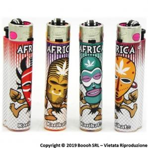 ATOMIC FESTIVAL AFRICA MASK ACCENDINO LARGE RICARICABILE - SERIE COMPLETA DA 4 ACCENDINI MAXI DA COLLEZIONE 2,89€