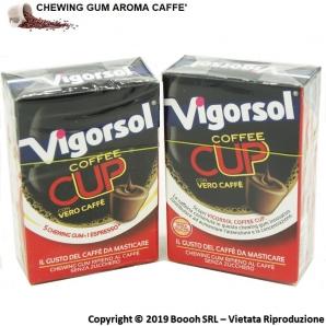 VIGORSOL COFFEE CUP CHEWING GUM - GOMME DA MASTICARE AL GUSTO DI CAFFE' | ASTUCCI SFUSI 1,69€