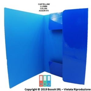 CARTELLINE 3 LEMBI CON ELESTICO - IDEALI PER ARCHIVIARE DOCUMENTI CARTACEI | 1 PEZZO O CONFEZIONE COMPLETA 1,39€