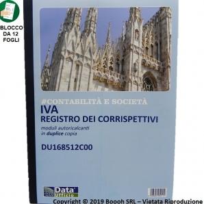 REGISTRO / PRIMANOTA DEI CORRISPETTIVI IVA DuI 3,79€