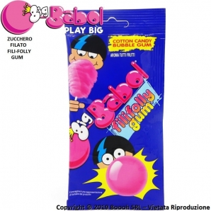 BIG BABOL FILIFOLLY GUM COTTON CANDY - BUBBLE GUM ZUCCHERO FILATO GUSTO TUTTI FRUTTI | BUSTINE SFUSE 0,89 €
