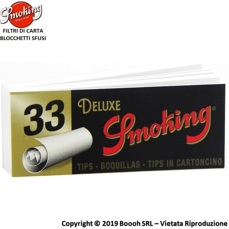 SMOKING FILTRI DI CARTA - 1 BLOCCHETTO DA 33 FILTRI IN CARTONCINO 0,34€