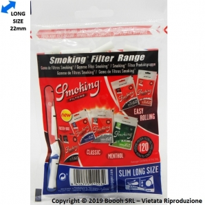 SMOKING FILTRI LONG SLIM 6MM LUNGHI - 1 BUSTINA DA 120 FILTRINI 1,05 €
