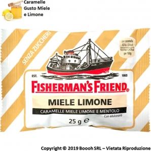 FISHERMAN'S FRIEND CARAMELLE BALSAMICHE GUSTO MIELE LIMONE E MENTOLO SENZA ZUCCHERO - BUSTINE SFUSE 1,49€