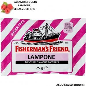 FISHERMAN'S FRIEND CARAMELLE BALSAMICHE GUSTO LAMPONE E MENTOLO SENZA ZUCCHERO - BUSTINE SFUSE 1,49€